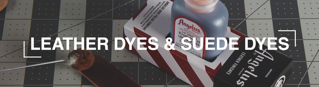 Angelus Shoe Polish Leather Dyes and Suede Dyes. Permanent dyes with vibrant color!