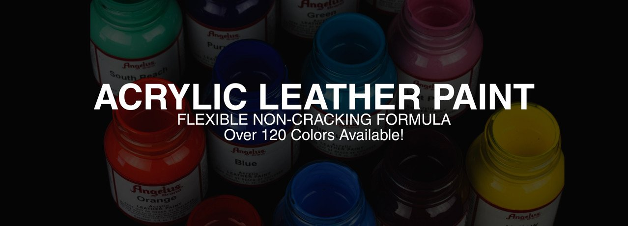 Angelus Acrylic Leather Paint. Flexible Non-Cracking Formula. Over 120 colors available!