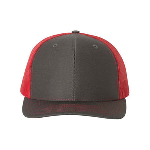 Richardson - Snapback Trucker Cap - 112 - Charcoal/Red