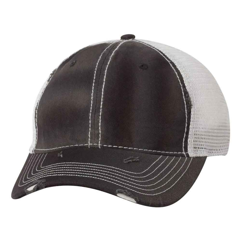 Sportsman - Bounty Dirty-Washed Mesh-Back Cap - 3150 - Charcoal/Black