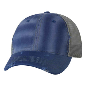 Sportsman - Bounty Dirty-Washed Mesh-Back Cap - 3150 - Navy/Khaki