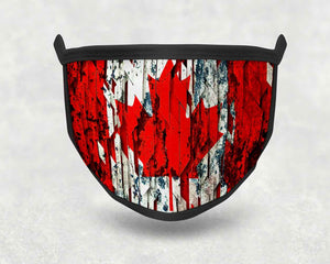 Custom Face Cover - Canada Swirl