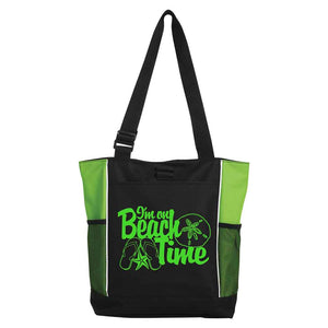 I'm on Beach Time Tote - Lime