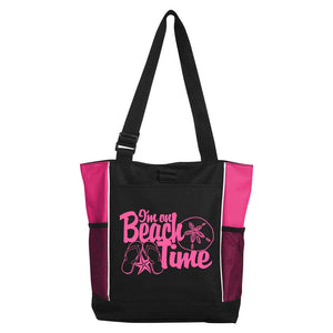 I'm on Beach Time Tote - Tropical Pink