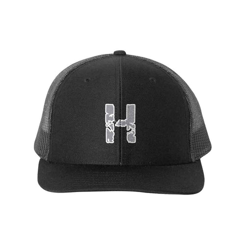 Richardson - Snapback Trucker Cap - 112 - Black