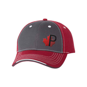 Sportsman - Tri-Color Cap - 9500 - Charcoal/Garnet