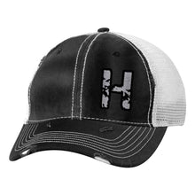 Load image into Gallery viewer, Sportsman - Bounty Dirty-Washed Mesh-Back Cap - 3150 - Black/Silver