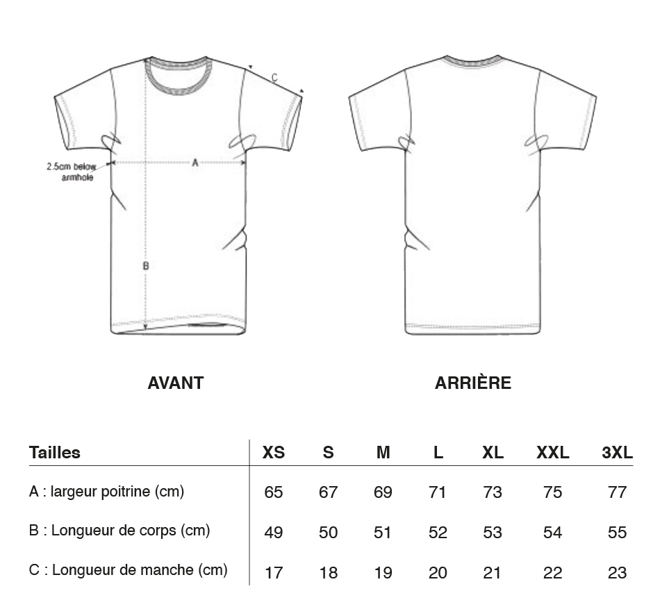 T-shirt made in france glace