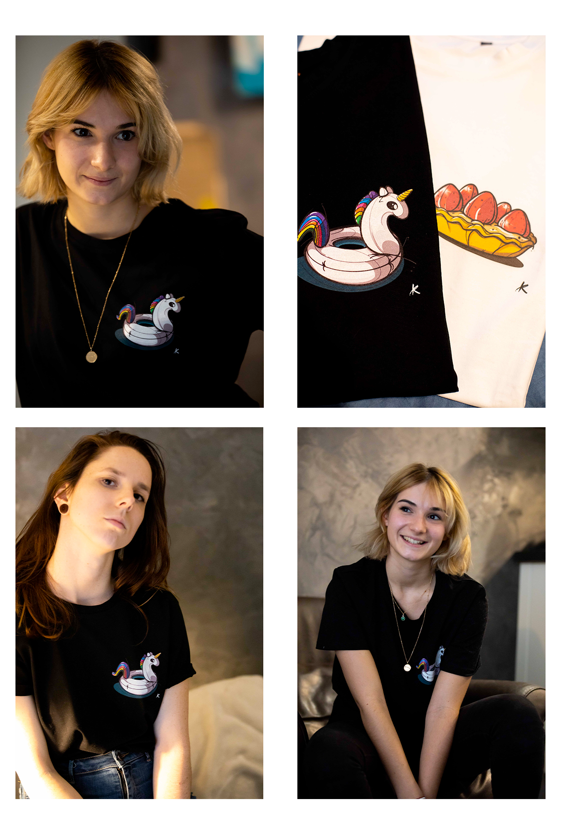 Tshirt licorne made in france