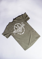 Fueling the Demise Pocket Tee in Sage