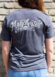 Bolt Front T-Shirt in Grey
