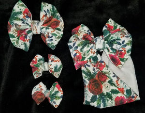 Winter Roses Bow