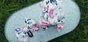 Whimsical Water Flowers Bow