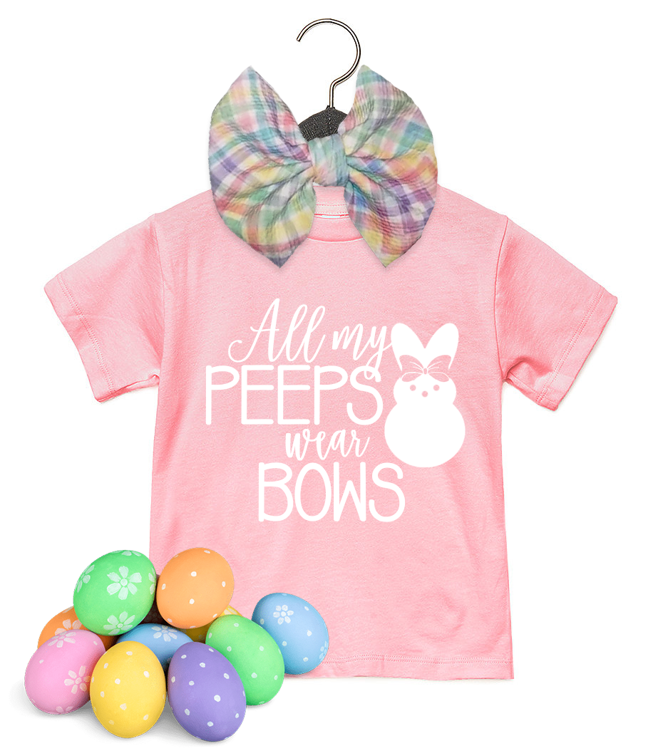 Peeps Tee & Easter Basket Bow Set