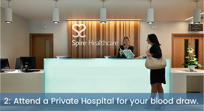 Attend a private hospital for your blood draw