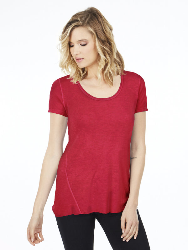 Scoop Neck Short Sleeve