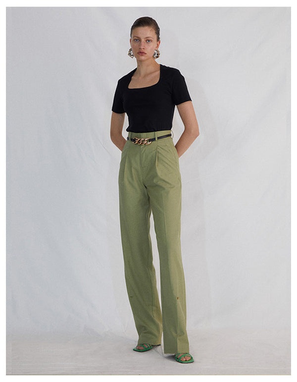 GREEN  PANTS - AMNUE