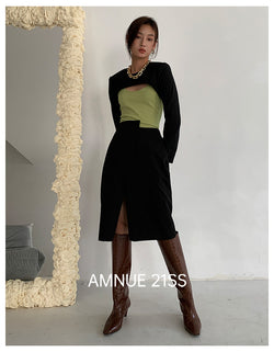 LIGHT GREEN CAMISOLE - AMNUE