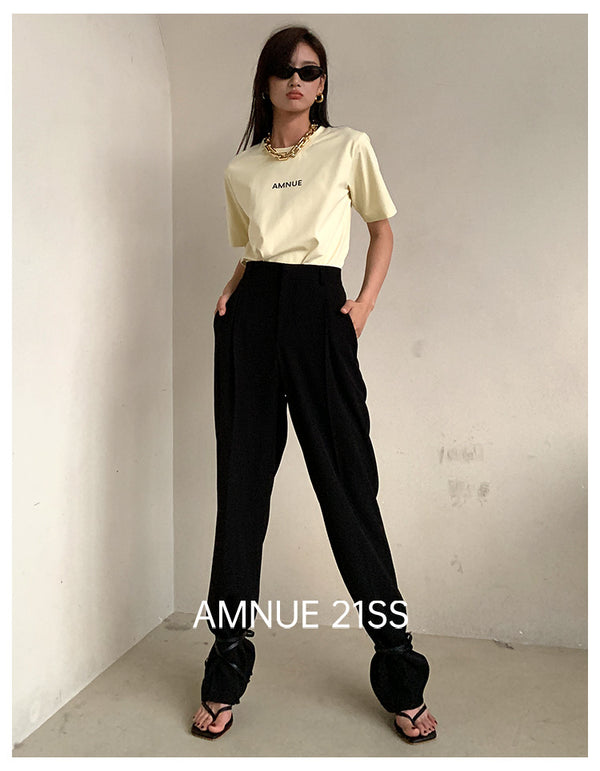 LIGHT YELLOW T SHIRT - AMNUE