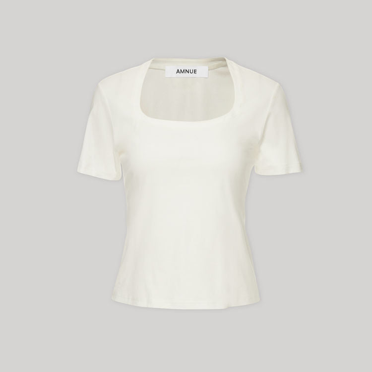 WHITE T SHIRT - AMNUE
