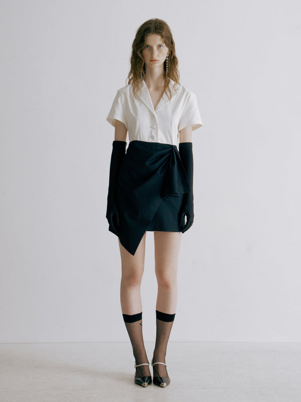 Asymmetrical Shirt Dress - AMNUE