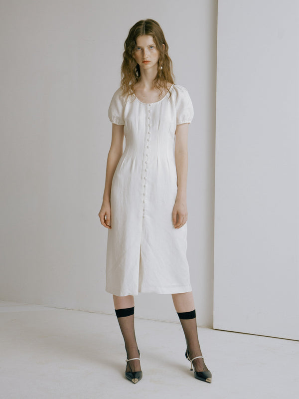 White Maxi Dress - AMNUE