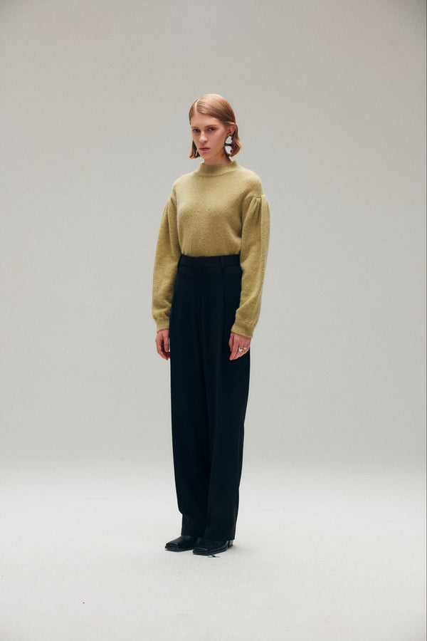 Black Wide Leg Pants - AMNUE