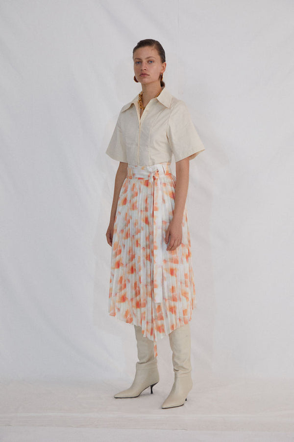 FLORAL PRINT SKIRT - AMNUE