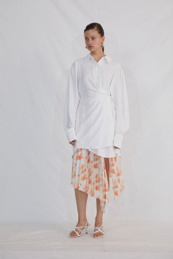 WHITE SHIRT DRESS - AMNUE