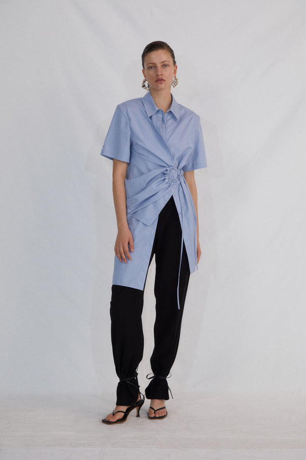 BLUE SHIRT DRESS - AMNUE