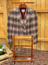 Load image into Gallery viewer, Vintage Plum Tree Cropped Blazer Size 11/12
