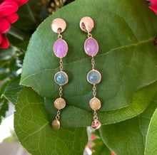 Load image into Gallery viewer, Rose Gold and Gemstone Earrings