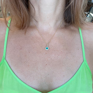 Malachite & Diamond Necklace