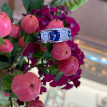 Load image into Gallery viewer, Sapphire & Diamond Band Style Ring