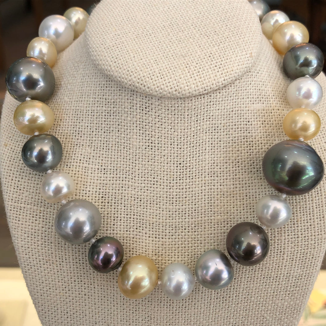 South Sea Multi Color Pearl Strand