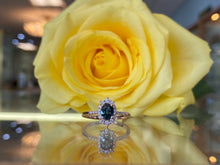 Load image into Gallery viewer, Sapphire & Rose Gold Diamond Ring