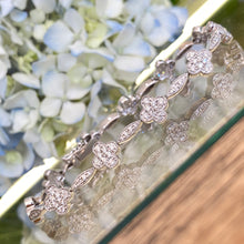 Load image into Gallery viewer, Floral Style Diamond Pavé Bracelet