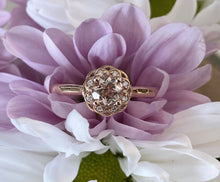 Load image into Gallery viewer, Petite Round Morganite & Diamond Ring