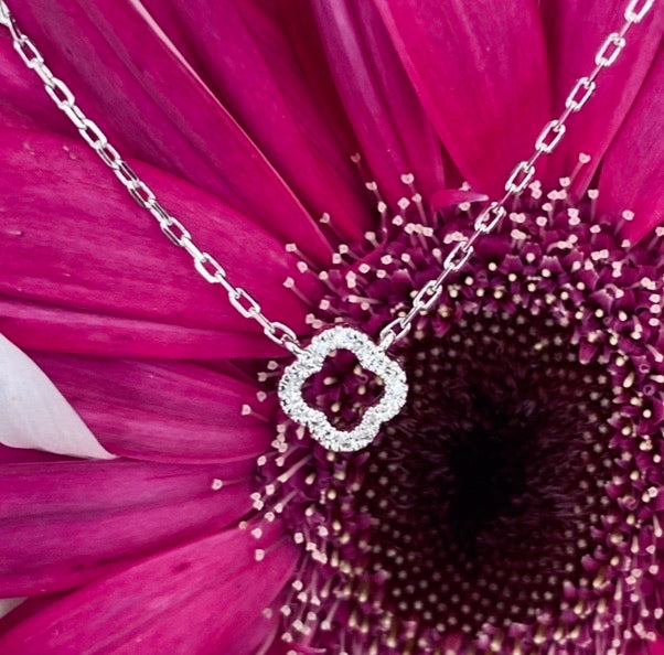 Petite Diamond Quatrefoil Necklace