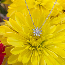Load image into Gallery viewer, Baguette and Round Diamond Sunburst Necklace