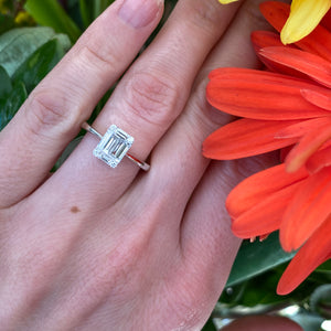Emerald Cut Diamond Shaped Mosaic Ring