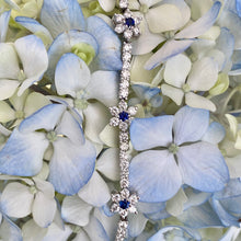 Load image into Gallery viewer, Sapphire & Diamond Tennis Bracelet