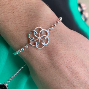 Sterling Silver Single Celtic Knot Link Bracelet