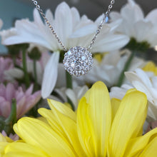 Load image into Gallery viewer, Diamond Pavé Disk Necklace