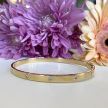 Load image into Gallery viewer, Iconic Diamond Bangle Bracelet in 18K Yellow Gold