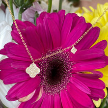 Load image into Gallery viewer, Petite Pavé Diamond Necklace in Yellow Gold