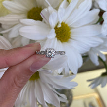 Load image into Gallery viewer, Unique Round Cushion Sahped Halo Engagement Ring