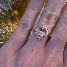 Load image into Gallery viewer, Morganite and Diamond Ring in Rose Gold