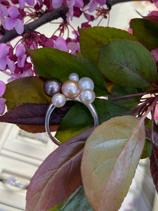 Bubbly Pearl Sterling Silver Ring