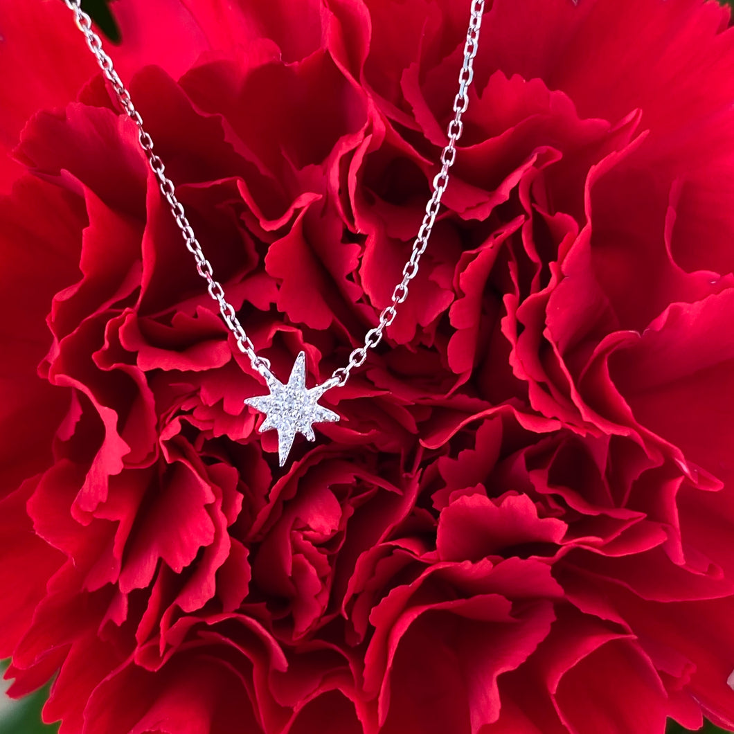 Dainty North Star Diamond Necklace